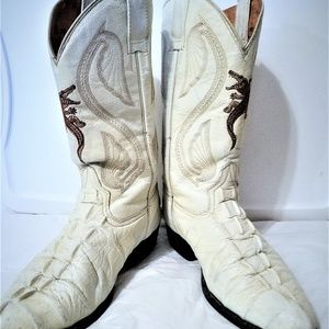 Vtg Gen Gator Western Boots Botas El Jinefe Sz 9